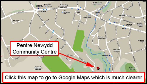 Map to The Colwyn Bay Men's Shed